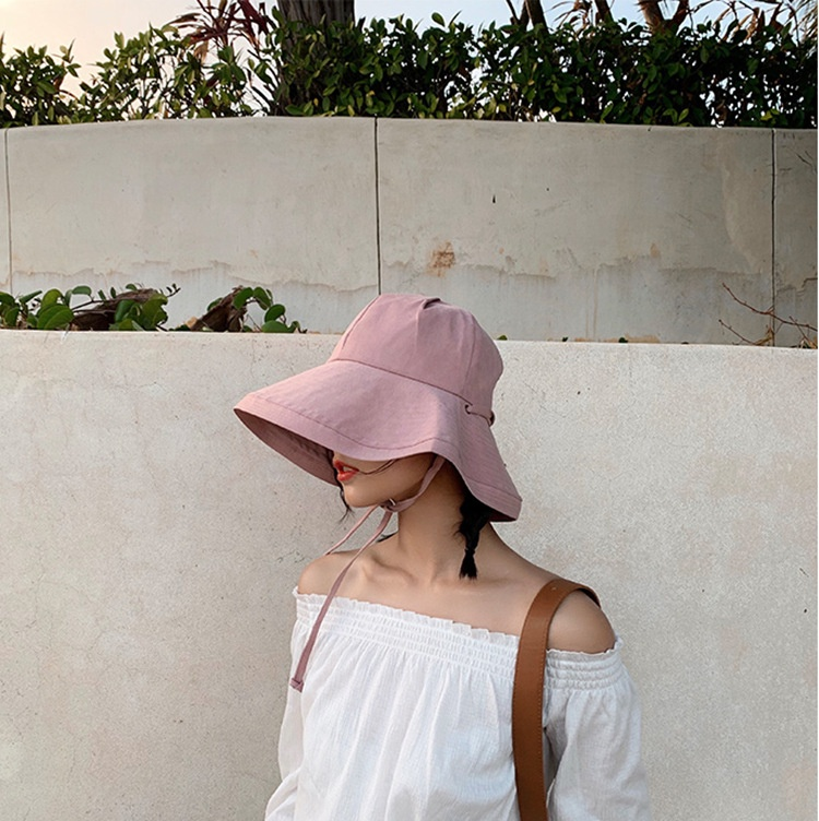 High Quality Hot Sale Unisex Summer Outdoor Sports Sunscreen Visor Fisherman Wide Brim Bucket Fishing Hat With Rope Windproof