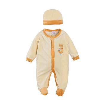 Wholesale soft 2pcs baby rompers winter 100% cotton baby clothes rompers