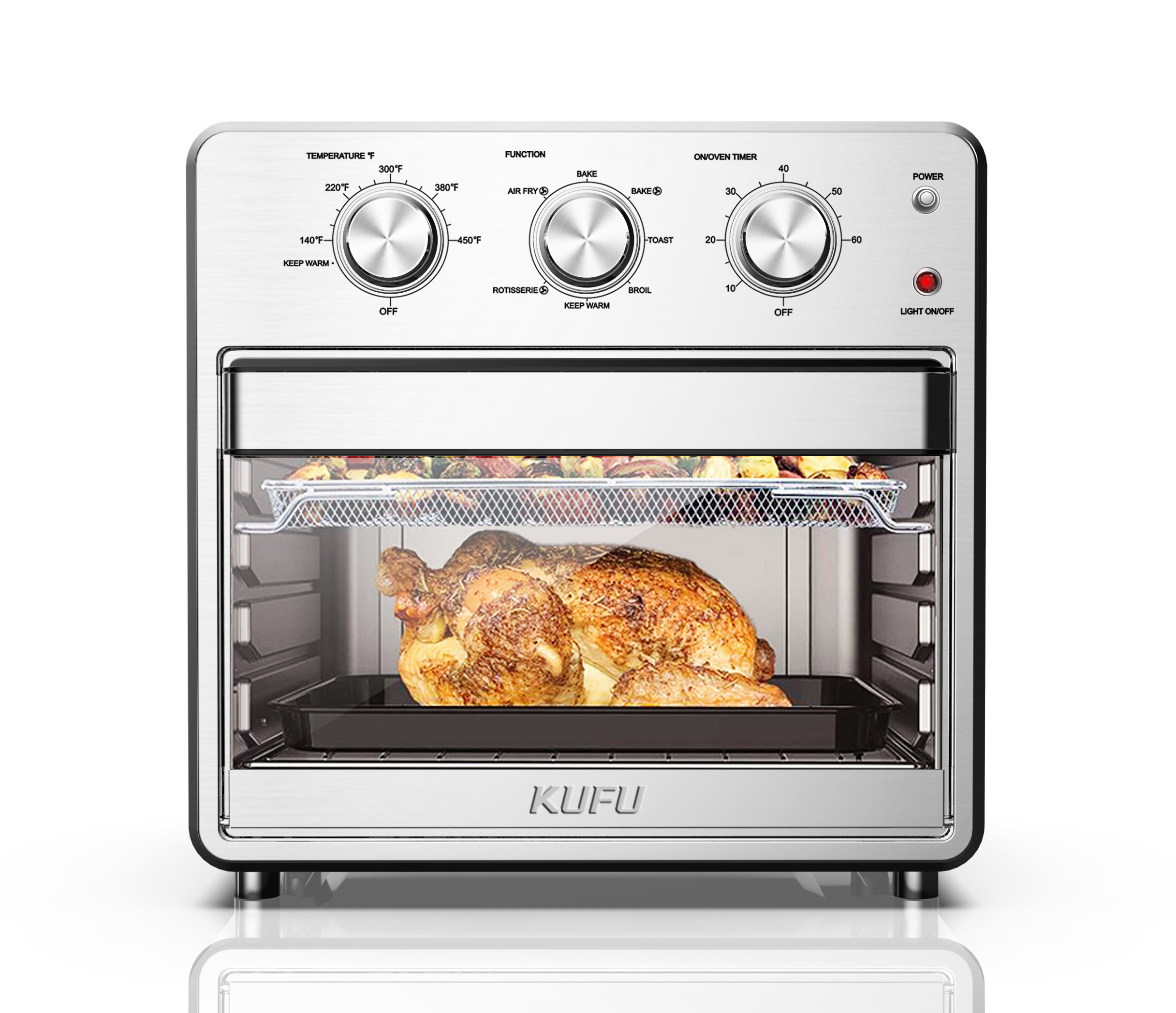 Kitchen Appliances Air Fryer Oven With Visible Window 15L 25L Toaster Ovens Air Fryer With Rotisserie Air Fryers