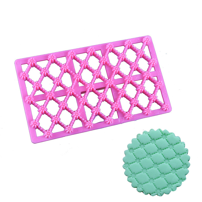 Octagonal flower Plastic Printing Biscuits Cookies Cutter Mould Embosser Cake Decoration Kitchen Baking CupCake Mould