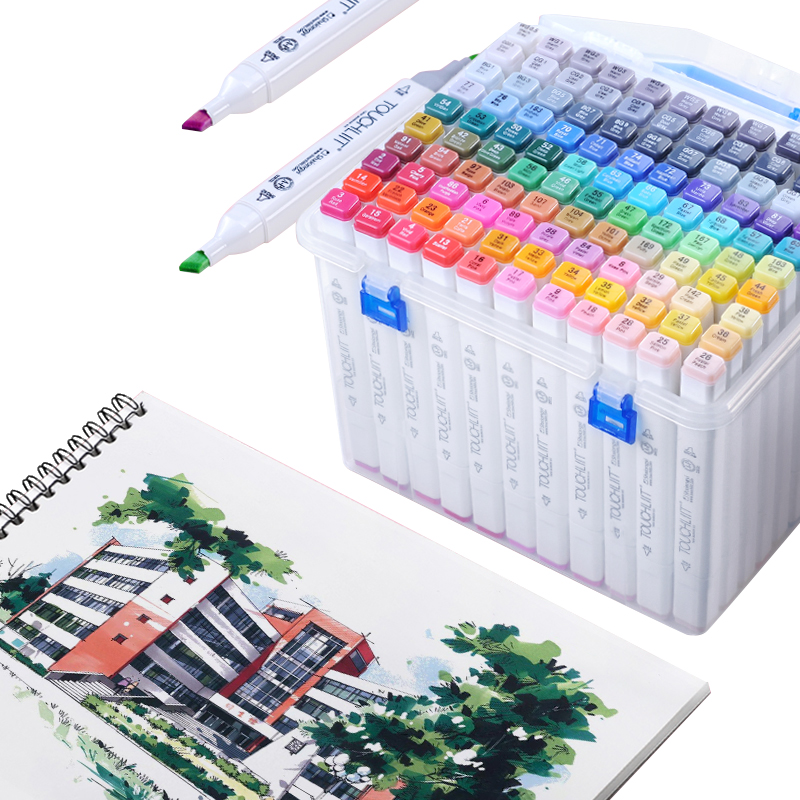 Artist Alcohol Based Brush markers 30/40/60/168 colors permanent ink touch markers for Anime student drawing