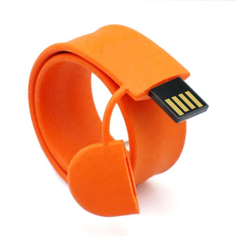 Bracelet Pen Drive 64gb USB 32gb 16gb 8gb Slap Wristband USB Flash Drive 2.0 Memory Stick Portable Silicone U Disk - USBSKY | USBSKY.NET