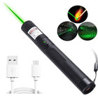 TOPCOM Military High Powerful Green Laser 303 Stars Cat Toy Flashlight USB Rechargeable Laser Pointer Pen