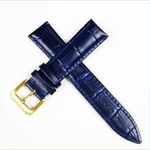 Ремешок для часов из натуральной кожи, женские наручные часы с пряжкой, цвета: синий, розовый, красный, белый, розовый, 12 мм, 14 мм, 16 мм, 18 мм, 20 м...(Китай)
