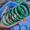 dark green jade bangle