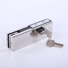 Durable Aluminum Alloy Glass Door Product Patch Fitting Bottom Corner Lock US-20