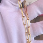 14k Gold Large 18Kgp 14K Gold Filled Paperclip Choker Chain Link Gold Plated Custom Necklaces