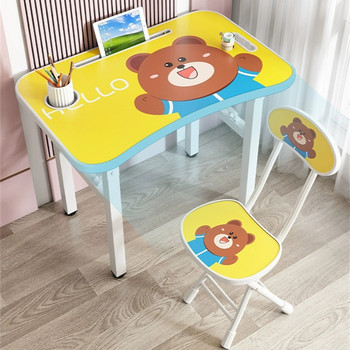 Colourful Kids Solid Wood Children's Tables And Chairs Kids Bedroom Furniture Kids Furniture