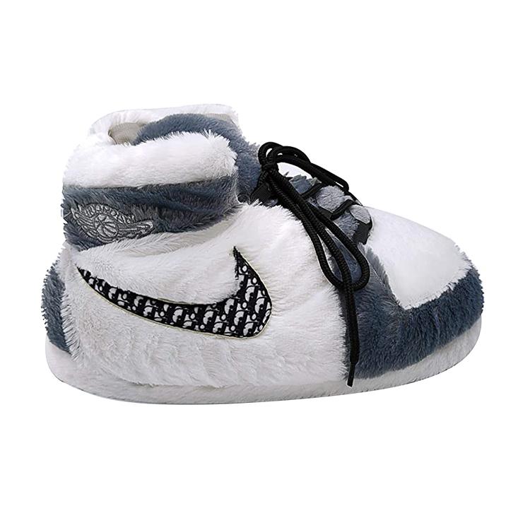 Yeezy Aj Jordan Knitted Sneaker Slipper Shoes Cozy Plush Stuffed Anti Slip Home Indoor Slipper