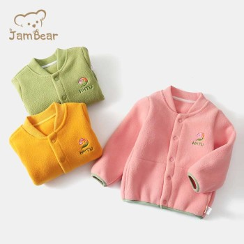 JamBear NEW autumn winter long sleeve 0-3-year old baby coat sustainable boutique thermal baby coat baby girls' jackets coats