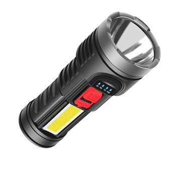 Best bright high power 1800 lumen cheap led torch light rechargeable cob plastic flashlight