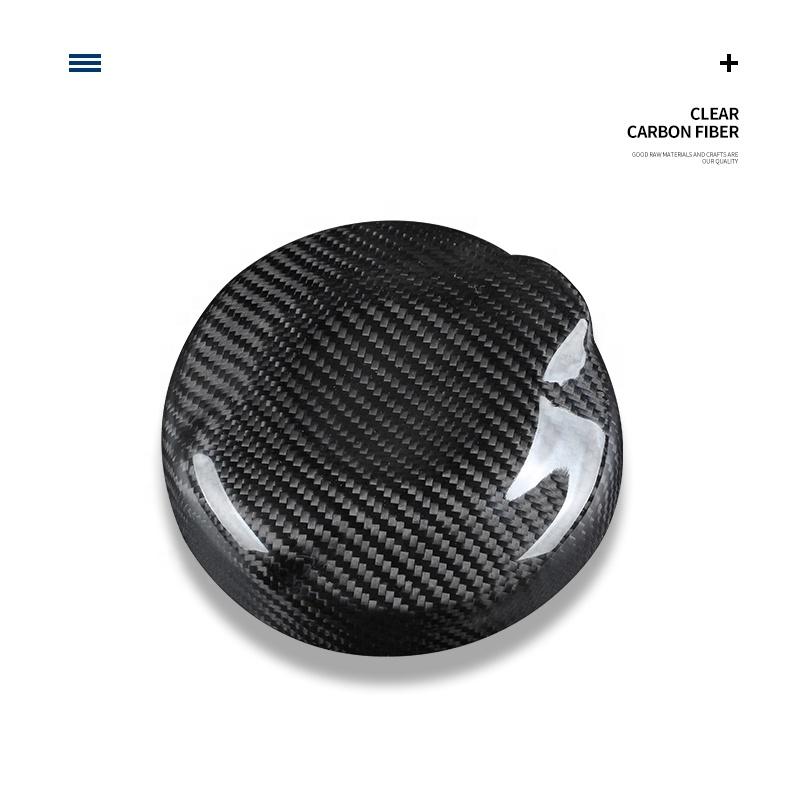 Genuine Carbon Fiber 3D Tank Cap Protective Sticker Fuel Tank Cap Sticker Cover for Mini Cooper F55 F56 Protective Accessories