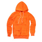 Custom Street Style 100% Polyester Men's Hoodies Jumper Orange 5 Pocket Hoodies for Jumper