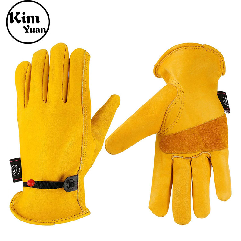 Anti-smash water proof  Anti-slip  Construction Welding Cowhide Working Gloves for men