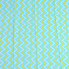 Turquoise and yellow wavy lines