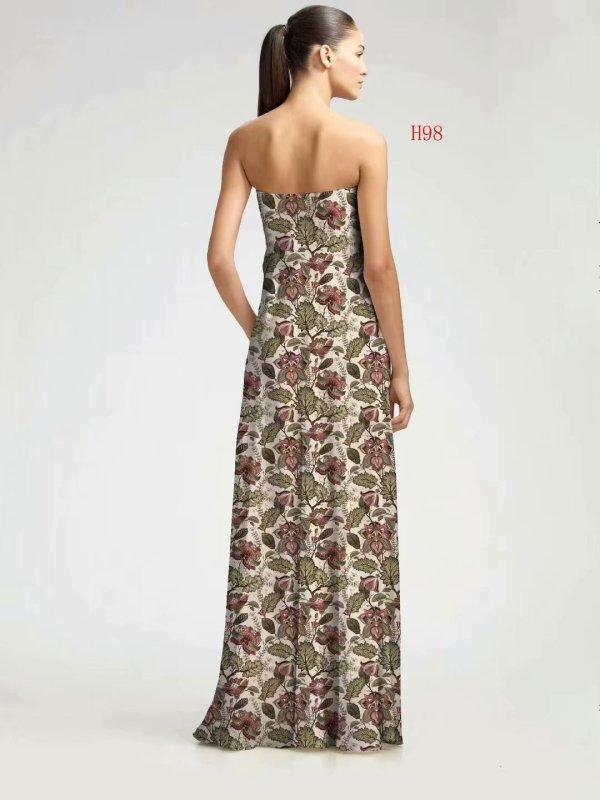 imitated silk elastic polyester printing chiffon fabrics for skirts