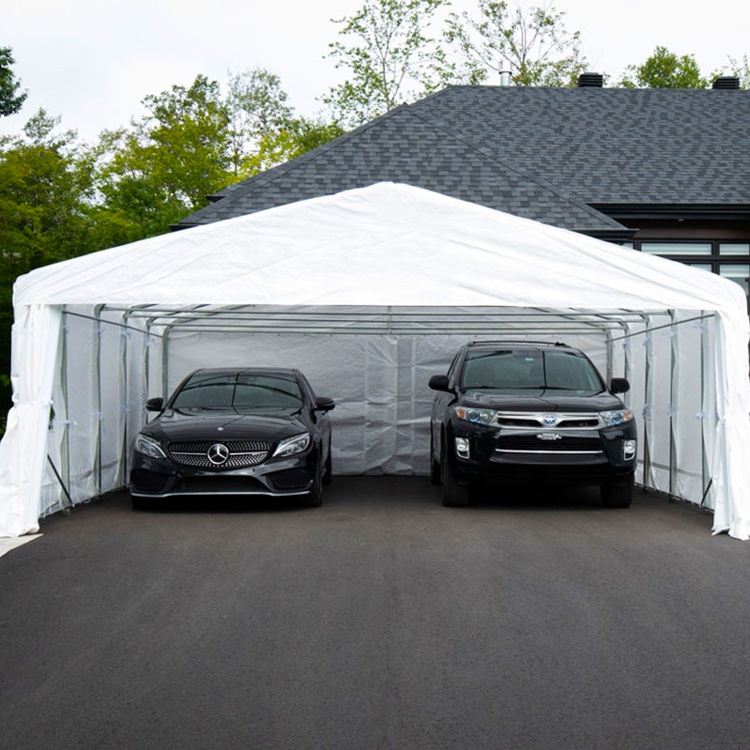 Top Quality Heavy Duty Double Car Shelter Two Cars Garage Canopy Car Parking Tent Carport Buy Top Quality Car Parking Shelters Double Car Canopy Garage Canopy 2 Car Parking Canopy Tent Double