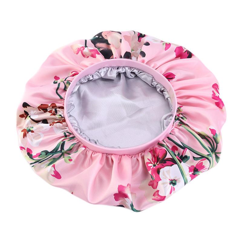 Fashion 2 Layers Elastic Band Night Sleep Custom Logo Bonnets Hat