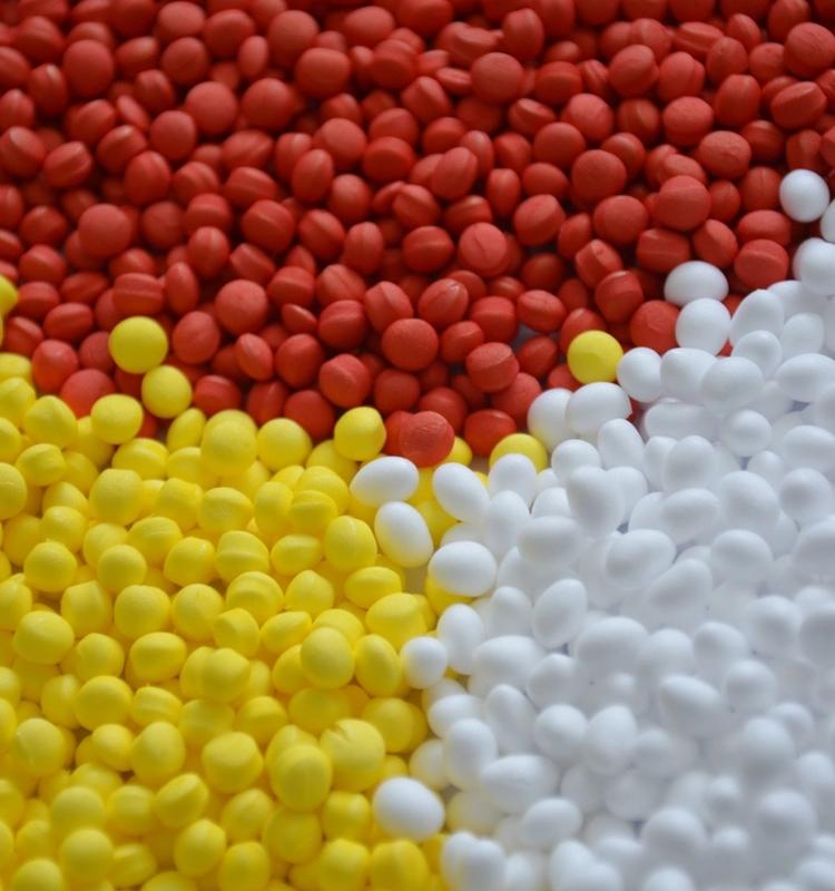 Рециркулирует Basf Etpu гранулы пены попкорн подошва E-tpu гранулы сырья для сапог частиц