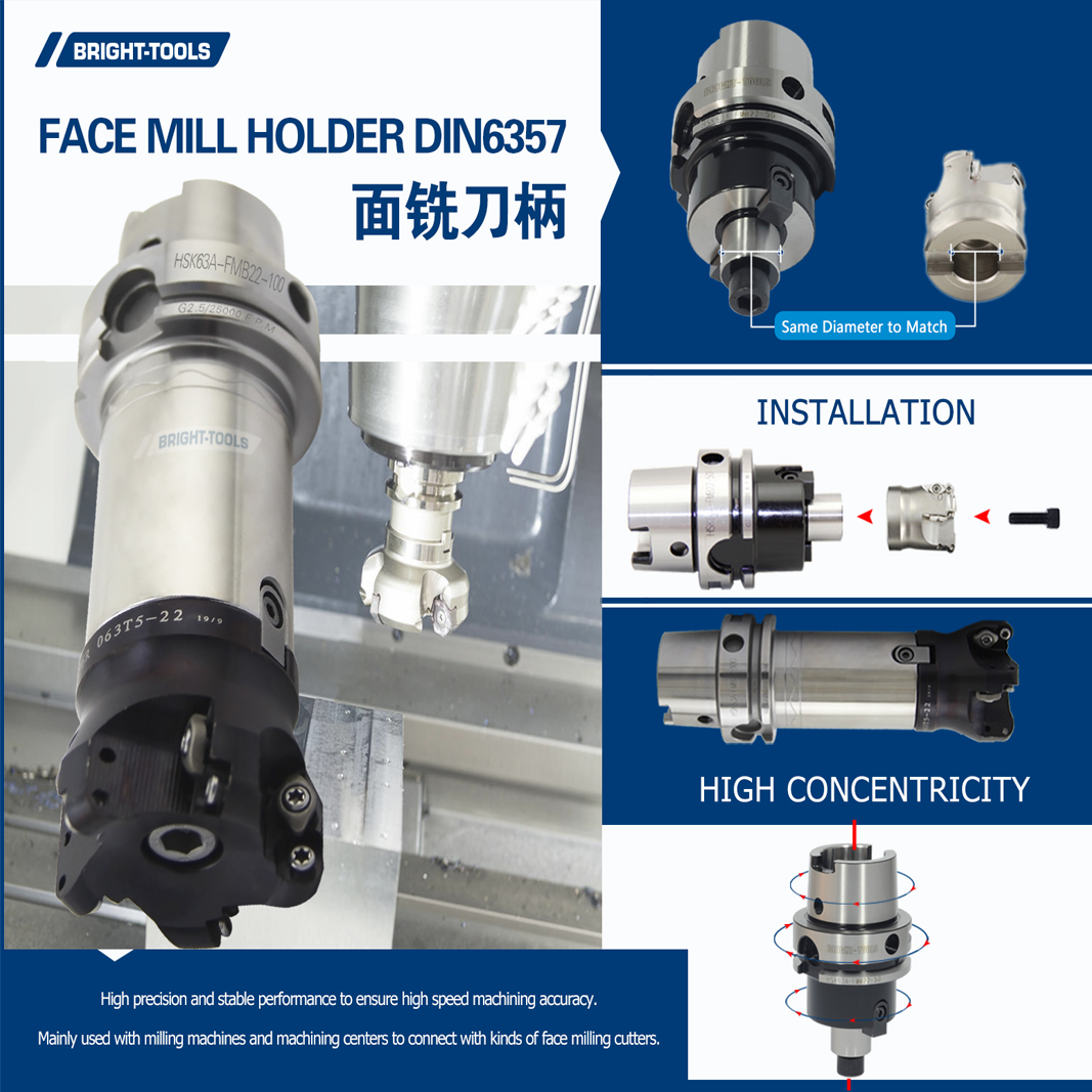 Professional Factory Supply High Quality HSK63a Face Mill Holder Tool Holders for CNC machine