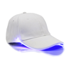 White Cap with Blue Lights