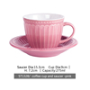 ST1328/cup and saucer pink