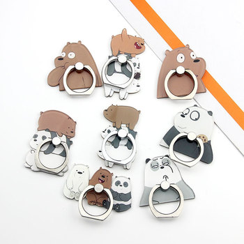 Hand Mobile Phone Holder Smart Phone Mount Finger Grip Cute Cartoon We Bare Bears Wholesale Stand Holder for Tablet Ipad Iphone