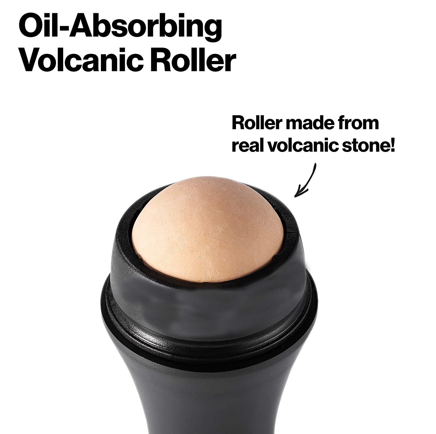 2022 настоящий вулканический камень Worldbeauty, многоразовый маслопоглощающий вулканический ролик для лица