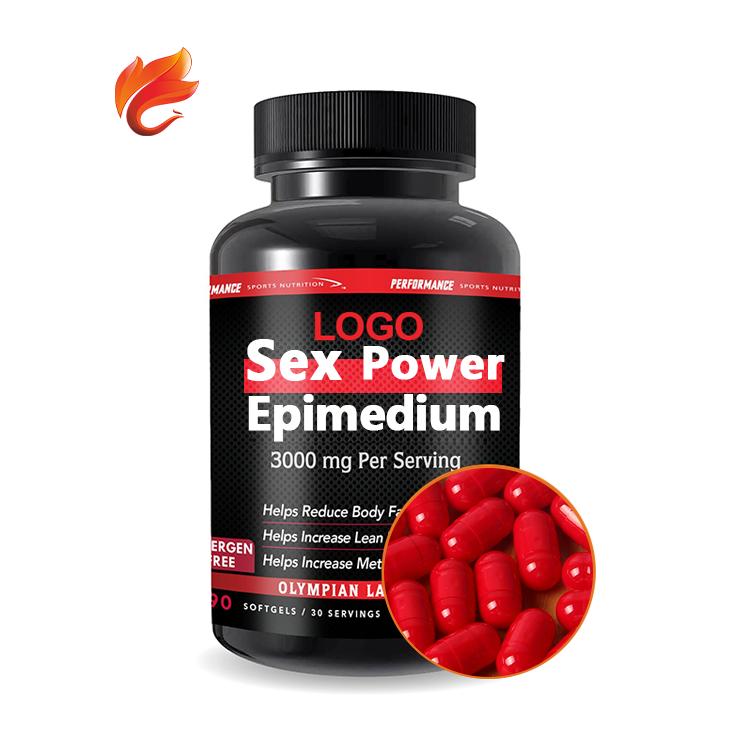 Экстракт эпимедиума, мужская сила, 400 мг, фирменная этикетка, жесткие капсулы, жевательный Мягкий гель