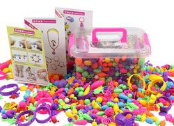 Бусины для творчества DIY Набор для создания украшений для детей ясельного возраста бусины для создания идеи рукоделия подарки