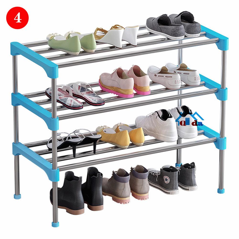 Портативная тканевая металлическая башенка для обуви, стойка для обуви, шкаф-органайзер, стойка для обуви