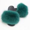Green lady fur slipper