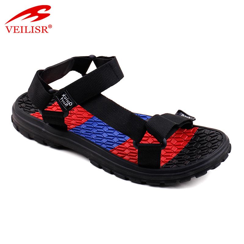 Модные Простые плетеные мужские сандалии