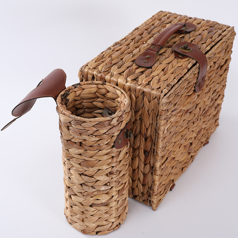Новый дизайн, Современная Корзина для пикника с ручкой и крышкой для путешествий