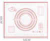 50x40cm-right ángulo rojo/negro