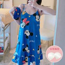 Летняя хлопковая одежда для сна, женская ночная рубашка без рукавов, Женская хлопковая ночная рубашка, сексуальное ночное белье размера плю...(Китай)