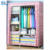 Easy assemble customize design portable storage children foldable wardrobe