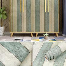 Уплотненный ПВХ водонепроницаемый самоклеющиеся обои рулон мебели шкафы декоративная пленка дерево зерна наклейки для DIY домашнего декора(Китай)