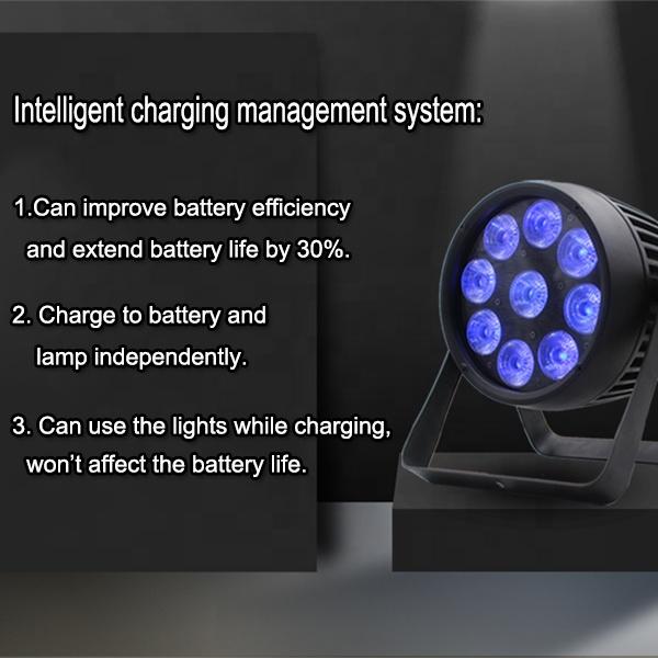 IP65 водонепроницаемый dj светодиодные лампы подсветки Wi-Fi блок с пультом дистанционного управления 9x18 Вт 6in1 RGBWA УФ akku емкостью сценический парблайзер беспроводной аккумулятор лампы подсветки