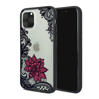 For iPhone 12 Pro Colored Drawing Botany Carved Hard PC TPU hybrid Case For iPhone 12 Pro