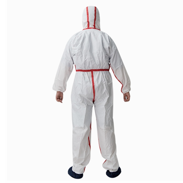polypropylene breathable protective coverall waterproof disposable coverall with hood