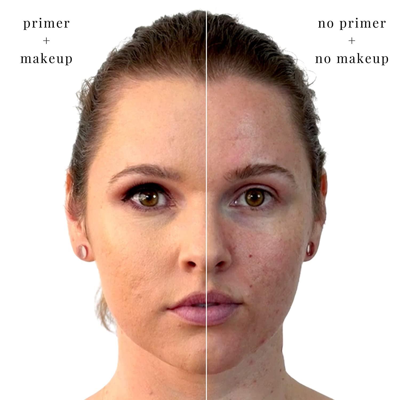Органическая основа для макияжа лица OEM, с контролем жирности, осветляет лицо, стойкий праймер для макияжа лица
