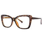 Triangle Pattern Zeelool Triangle Pattern OT524812 Comfortable Flexible TR90 Eyeglasses Transparent And Tortoise Eyeglasses With Spring Hinge