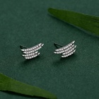 Silver Earrings Earring PONEES 925 Sterling Silver Geometric Line Earrings Sample Diamond Stud Earring For Women Fashion
