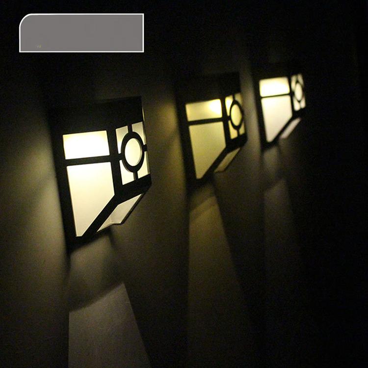 Наружный садовый светодиодный настенный светильник YJN5443 на солнечных батареях