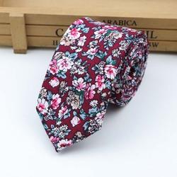 Хлопковый галстук с цветами мужской галстук с цветными цветами узкий галстук с пейсли узкий толстый галстук