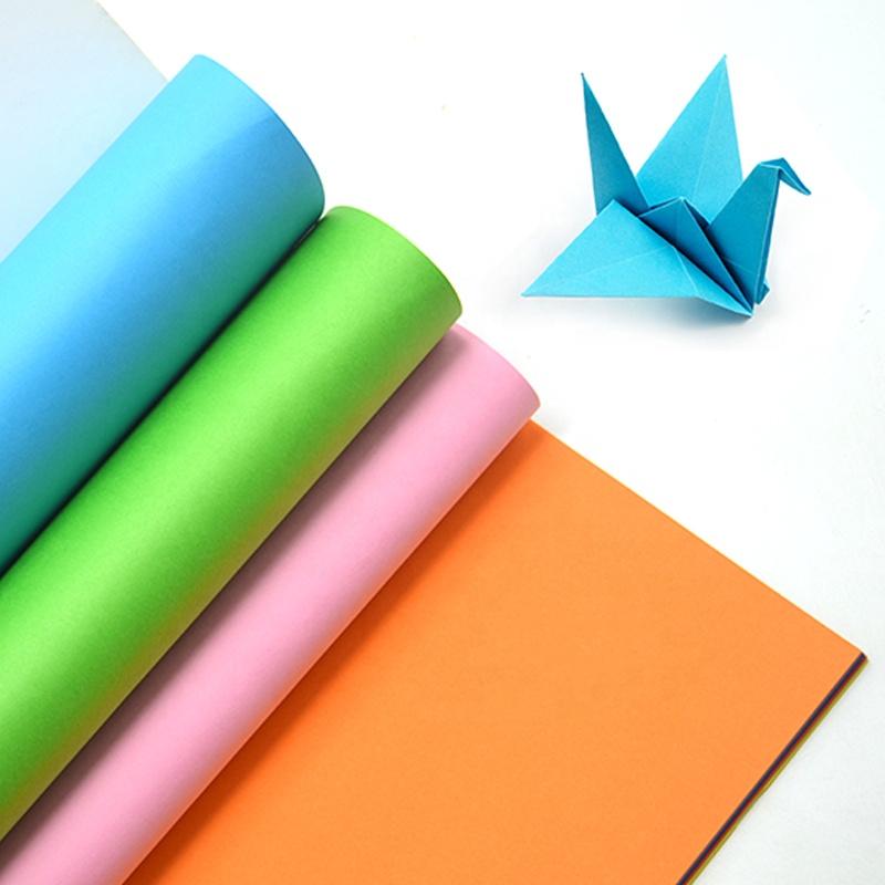 80gsm художественная и Ремесленная однотонная цветная китайская цветная бумага для детей