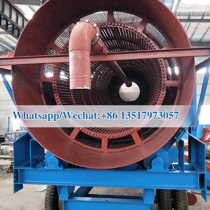 Mobile alluvial placer gold mining equipment