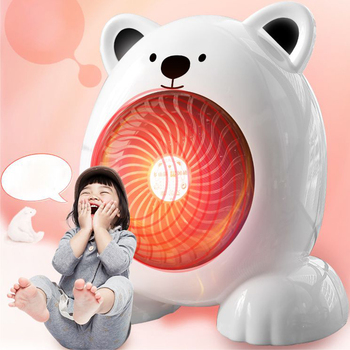 2020 New Cute Bear Mini Room Heater Portable Electric Heater With Adjustable Thermostat 400W Fan Heater