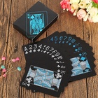 Card Playing High Quality Card Games Black Plastic Waterproof Playing Card Decks